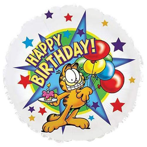 CTI Balloons Foil Balloon 115235 Garfield With Cup Cake Happy Birthday, 18