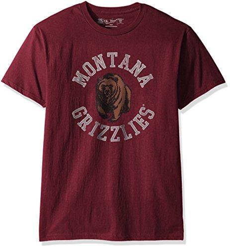 Original Retro Brand NCAA Montana Grizzlies Men's Victory Vintage Tee, XX-Large, Maroon