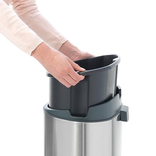 Brabantia Touch Bin Cubo de Basura, 40 litros, Acero Inoxidable, Negro Mate, 32 x 29.5 x 72 cm: Amazon.es: Hogar