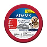 Dog Flea Treatment Collar - Adams Flea and Tick Collar for Dogs and Puppies, One Size Fits All, 2-Pack