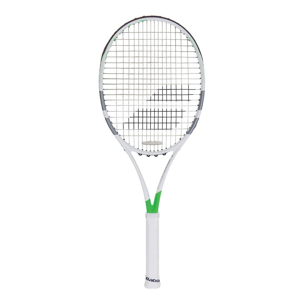 Babolat Pure Strike 16 x 19 Wimbledon Limited Editionグリーン/ホワイト/グレーテニスラケットStrung withカスタムラケット文字列色 4 1/8 inch Red String B07CZ4PD3N