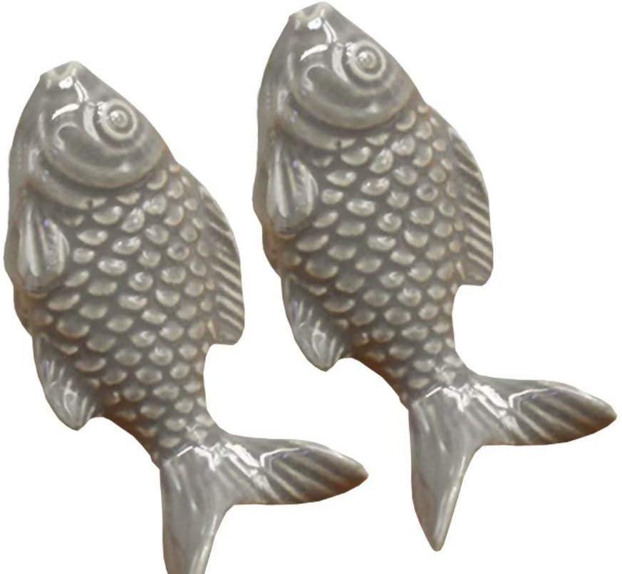 TM 2PCS 55mm Gelb Cute Fisch Form Keramik T/ürknauf Griff Kn/öpfe f/ür Schrank // Schublade // Bad //Kinderzimmer FBSHOP Great /& Fun Decor,7 Farben erh/ältlich