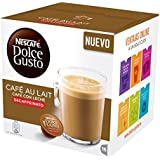 Nescafe DOLCE GUSTO Pods/ Capsules - CAFE AU LAIT DECAFFEINATED (NEW) = 16 count (pack of 3)