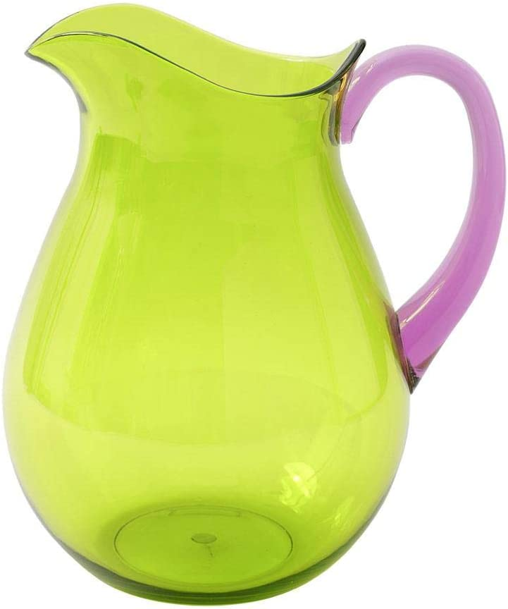 Caspari Acrylic Pitcher in Green with Amethyst Handle - 1 Each