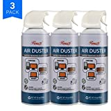 Rosewill Compressed Gas Duster, 10 oz Canned Air Multipurpose Computer Keyboard Cleaner Spray (3-Pack), Ozone Safe - RCGD-18003