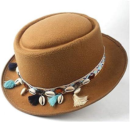 Winter Pork Pie Hat Outdoor Travel Casual Wild Hat Porkpie Church Fascinator Hat Flat Hat Size 58CM Unisex