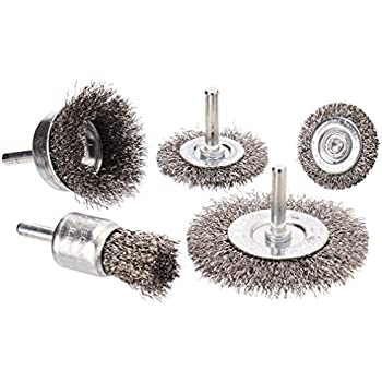 Hot Max 26071 2-1//2-Inch Crimped Wire Mounted Cup Brush Fine 1//4-Inch Hex Shank