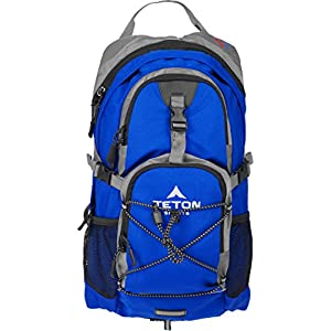 TETON Sports Oasis 1100 2 Liter Hydration Backpack Perfect for Skiing, Running, Cycling, Biking, Hiking, Climbing, and Hunting; 2 L Water Bladder Included; Free Rain Cover Included; Bright Blue