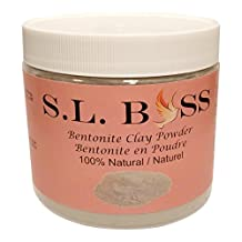 100% Natural Pure Organic Bentonite Clay Powder - Indian Healing Clay, For Exfoliating, Deep Pore Cleansing Face Mask, Body Detox Wraps/Baths, Loose Body Powder, Clarifying Hair Mask - 1 Pound/16oz - Sourced in the United States.