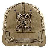 My Wallet Would Be Full Hat, Without My Cat Trucker Cap (Trucker Cap - Khaki)