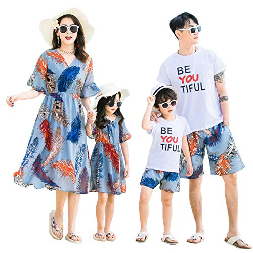 Mother Daughter Costumes Matching - Elufly Summer Family Matching Outfits Floral