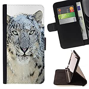 For Samsung Galaxy Core Prime Snow Leopard Tiger Furry Winter Animal Style PU Leather Case Wallet Flip Stand Flap Closure Cover