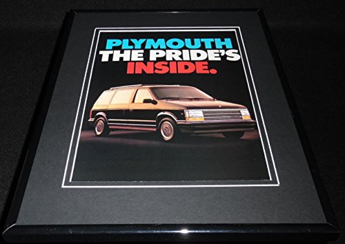 1987 Plymouth Minivan Framed 11x14 ORIGINAL Vintage Advertisement