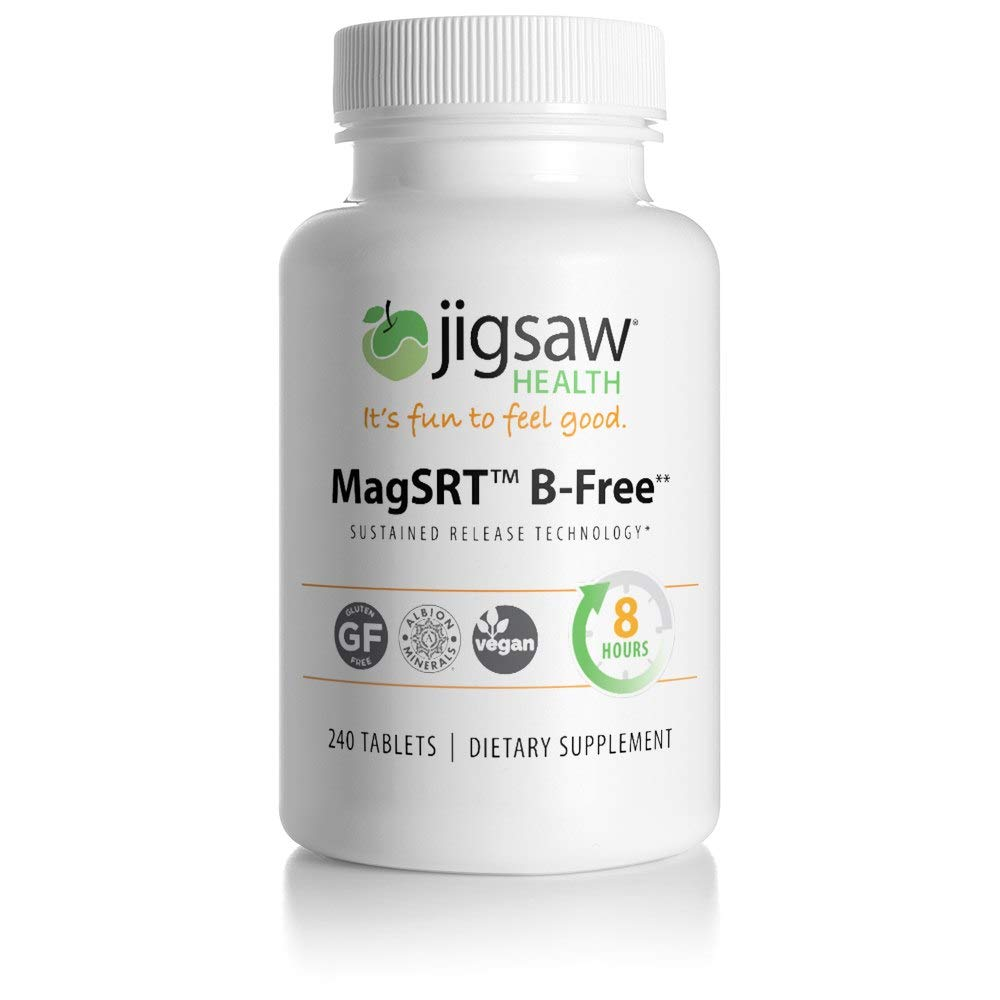 MagSRT (Jigsaw Magnesium w/SRT) Premium, Organic, Slow Release Magnesium Supplement - Active, Bioavailable Magnesium Malate Tablets - 240 ct