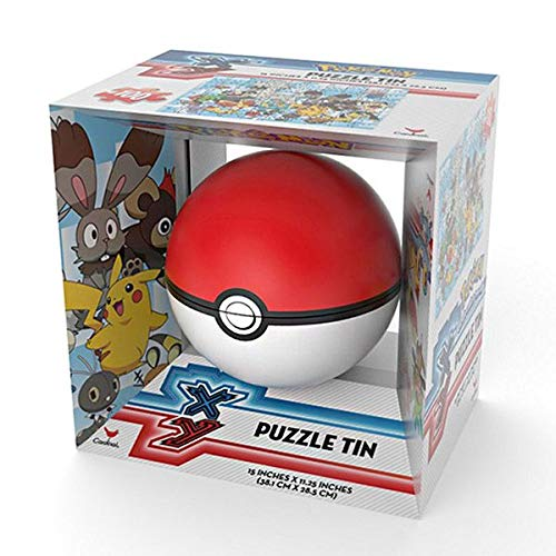 Pokemon Pokeball Poke Ball Sphere Puzzle Tin - 100 Piece Puzzle - Colors May Vary
