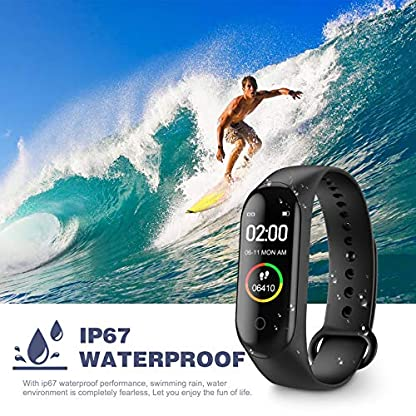 Activity Tracker, Fitness Tracker with Heart Rate Monitor,5ATM Water Resistance HD Touch Screen Smart Watch,Sleep… 4