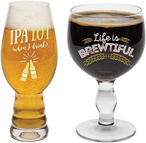 BigMouth Inc Beer Snob Glass