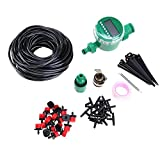 Chaufly DIY Automatic Drip Irrigation Kit Set Garden Hose Plants Watering Fittings