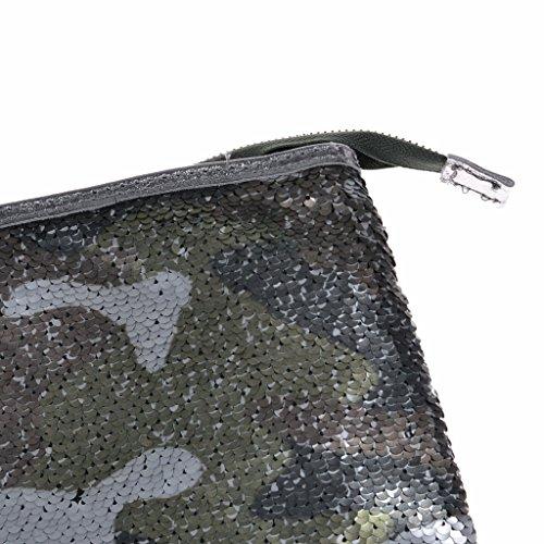 Clutch Pailletten Camouflage Abendtasche Ausgehtasche Clutch Tarnfarbe
