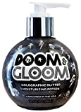 Doom & Gloom Black Holographic Glitter body gel 9 oz