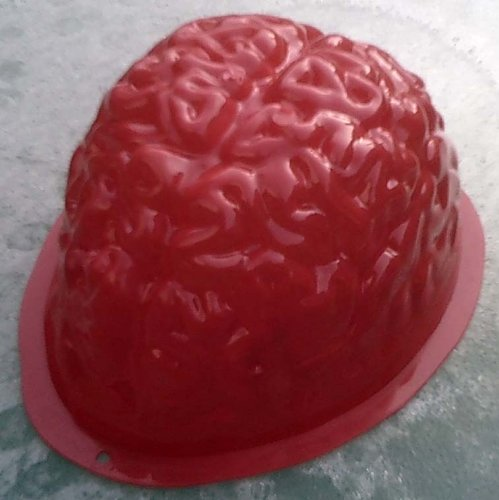 Brain Shaped Jello Mold for Halloween