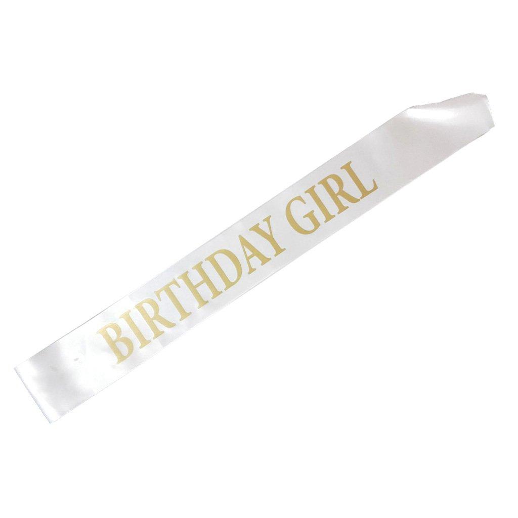 Birthday Girl Banda Satén para Mujer Niña Fiestas de ...
