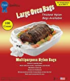 First Quality 16-Inch by 17-1/2-Inch Large Oven Bags 100 bags and Ties Per Box