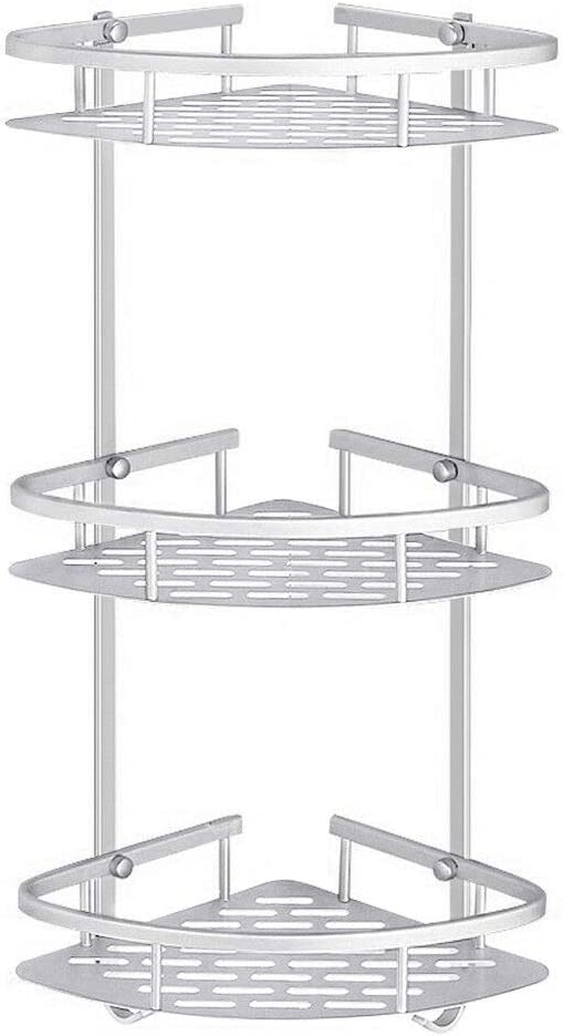 2//3 Shower Caddy Corner Shelf Organizer Bath Storage Bathroom Accessory Holder