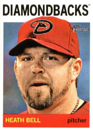 2013 Topps Heritage Baseball Card #327 Heath Bell - Florida Marlins (MLB Trading - Store Florida Bells