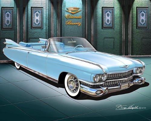 Amazon.com: 1959 Cadillac Eldorado Biarritz Breton Azul ...