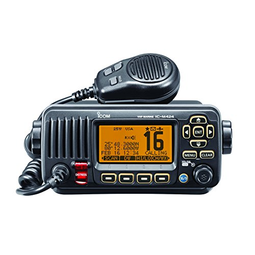 ICOM IC-M324 01 Fixed Mount VHF Radio - Black primary