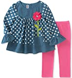 amazon headquarters - Kids Headquarters Little Girls' Tunic Legging Set, Blue/Pink, 6