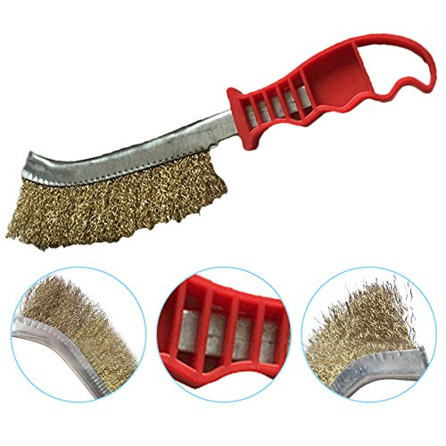 2 Pcs Wooden Handle Cleaning Metal Brush Used For Surface Cleaning, Derusting, Debries Various Metal.