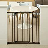 'Tall Easy Swing and Lock Gate' by North States: Ideal for wider stairways, swings to self-lock. When tall barrier needed. Hardware Mount. Fits opening 28.68' to 47.85' wide (36' tall, Soft White)
