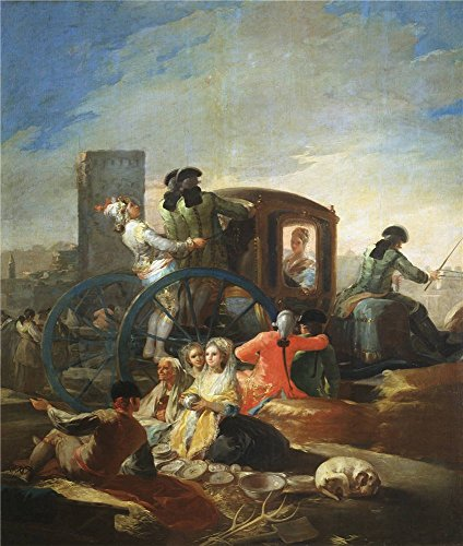 Perfect Effect Canvas ,the Replica Art DecorativeCanvas Prints Of Oil Painting 'Goya Y Lucientes Francisco De The Pottery Vendor 1779 ', 30 X 35 Inch / 76 X 90 Cm Is Best For Gift For Girl Friend And Boy Friend And Home Decor And Gifts - Pottery Barn Market Umbrella