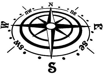 Generic Kompass Aufkleber In Verschiedenen Größen Windrose