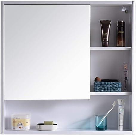 Armarios con espejo para Cuarto de baño Cuarto de baño con Puerta gabinete de Almacenamiento de Pared (Color : Silver, Size : 58 * 12 * 78cm): Amazon.es: Hogar