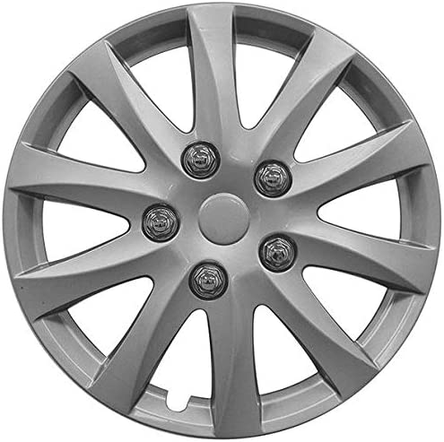 UKB4C 4x Wheel Trims Hub Caps 14 Covers fits Toyota Avensis Aygo Yaris in Silver