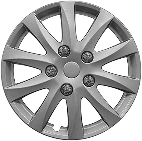 UKB4C 4x Wheel Trims Hub Caps 16 Covers fits Honda Jazz Civic Accord Black