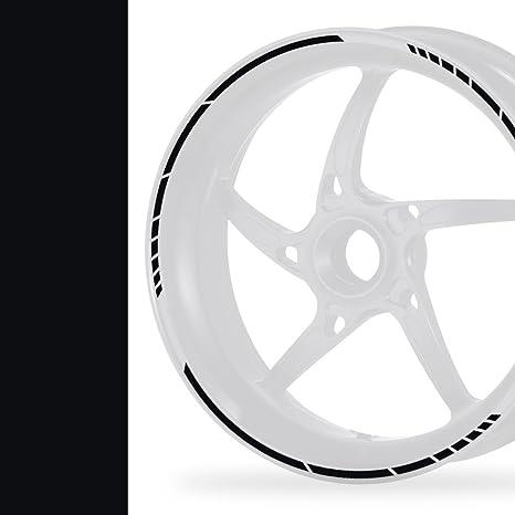 5mm, matt wei/ß NEW Felgenrandaufkleber Classic Style Auto Motorrad Felgenaufkleber