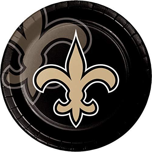 Creative Converting New Orleans Saints Dinner Plates, 24 ct ()