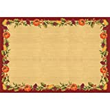 "Amscan Autumn Harvest Thanksgiving Party Placemat Table Decoration, White, 11"" x 16"""