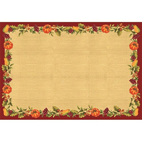 Amscan Autumn Harvest Thanksgiving Party Placemat Table Decoration, White, 11