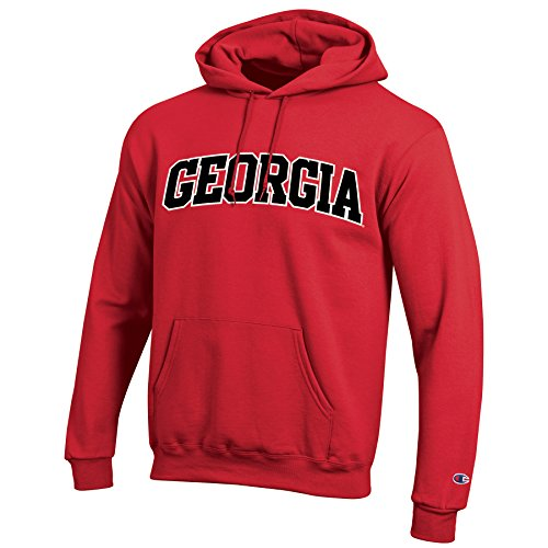 NCAA Georgia Bulldogs Men's Eco Powerblend Hooded Sweat Shirt, Large, Scarlet (Georgia Bulldogs Ncaa Drawstring)
