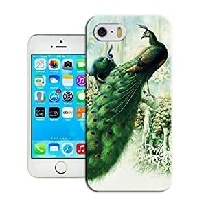 LarryToliver Customizable Peacock and Phoenix iphone 5/5s Case Cover for Guys New Design Phone Case