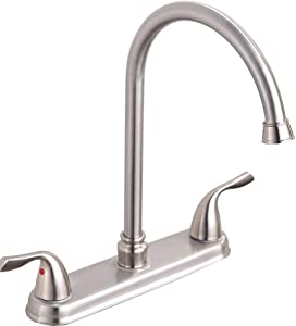 Hotis Stainless Steel Lead-Free Two Handle Kitchen Faucet,Faucet Kitchen Brushed Nickel