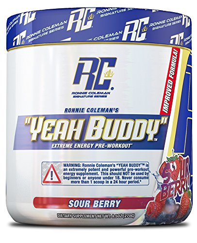 (Ronnie Coleman Signature Series Yeah Buddy 30 Serve Pre-Workout Supplement, Sour Berry, 270 Gram)