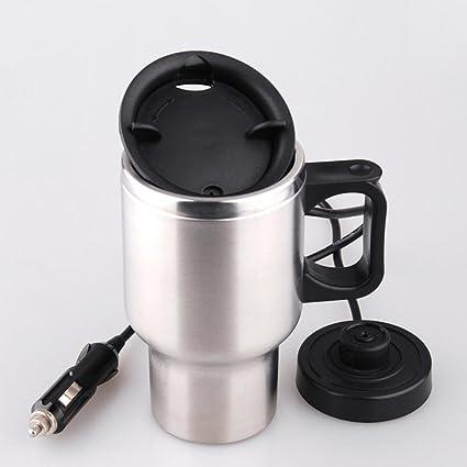 Taza eléctrica de acero inoxidable Calentador de la taza Calentador de agua aislado 450ml con cargador