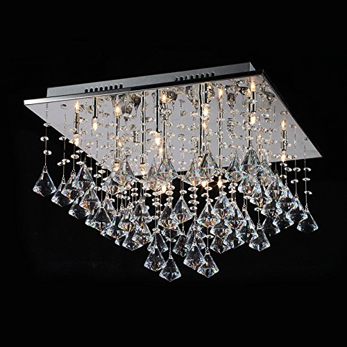 Lightess modern crystal chandelier flush mount chandeliers ceiling lightess modern crystal chandelier flush mount chandeliers ceiling light fixture with chrome ceiling plate for living aloadofball Choice Image