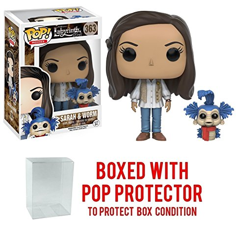 Funko POP! Movies Labyrinth Sarah with Worm Vinyl Figure (Bundled with Pop Box Protector to Protect Display Box)